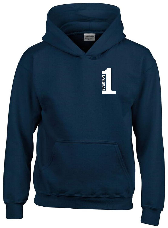 Number 1 Everton Fan Hoodie Kids Navy