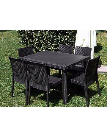 Tavoli E Sedie In Ferro Battuto Usati.Set Di Mobili Giardino E Giardinaggio Amazon It