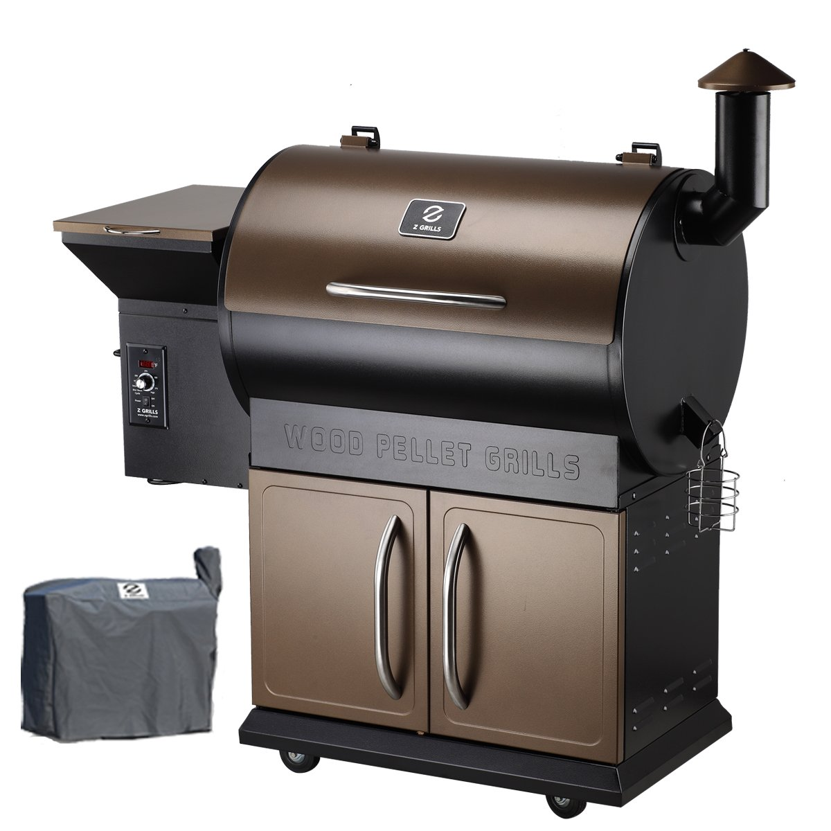 Z Grills Wood Pellet Grill & Smoker with Patio Cover,700 Cooking Area 7 in 1