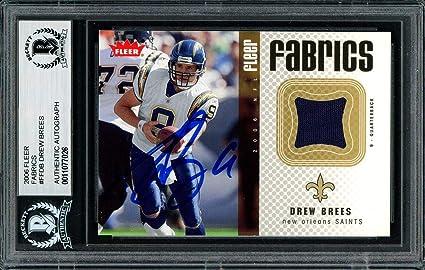 sale retailer e7e98 fe4fc Drew Brees Autographed 2006 Fleer Fabrics Jersey Card #FF-DB ...