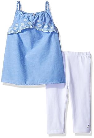 ea1ea306b0861 Amazon.com: Nautica Girls' Toddler Two Piece Legging Sets, Light ...