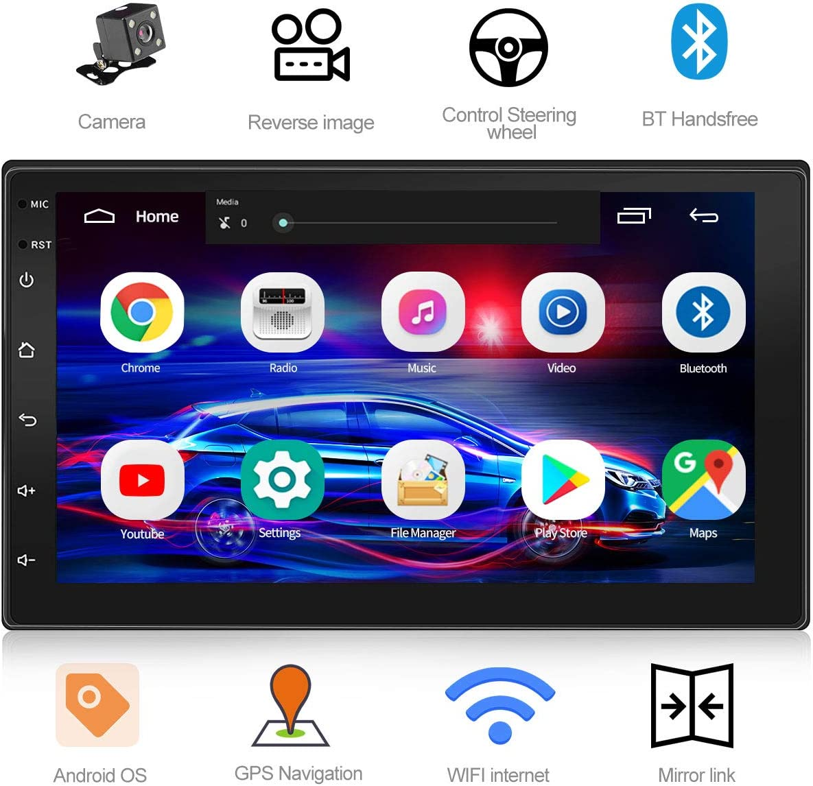 best double din car stereo with GPS under 100 review.