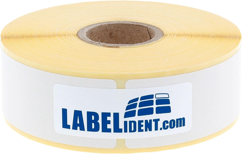 60 x 30 mm autoadesive 1500 etichette termiche dirette senza BPA su rotolo da 1 pollici per stampante desktop Labelident Etichette termiche Eco su rotolo non rivestite