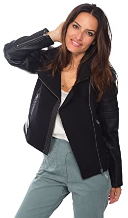 b6e877f3a335 2TWO Veste col Perfecto Femme  Amazon.fr  Vêtements et accessoires