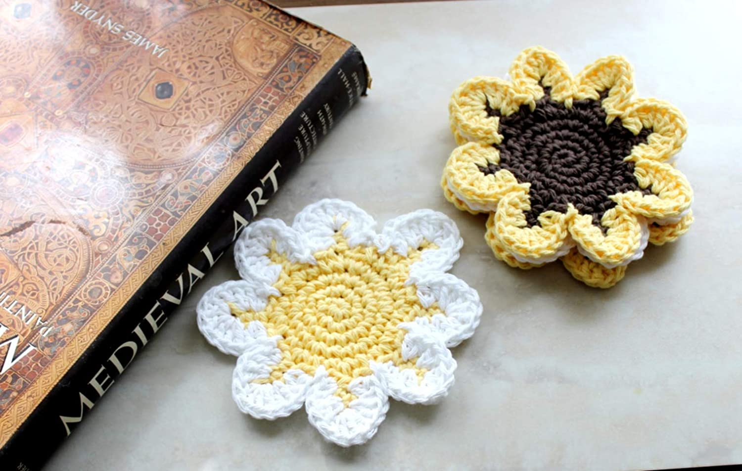Fabric Coasters Sunflowers allover