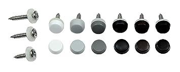 TX 200 Fensterbankschrauben mit Abdeckkappen und Dichtscheibe Edelstahl A2 Abdeckkappen anthrazit-grau Torx - inkl