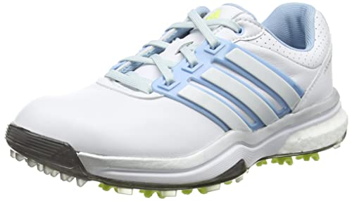 new product c02cc d8a5b adidasAdipower Boost - Golf donna, Bianco (WhiteSoft BlueSunny Lime)