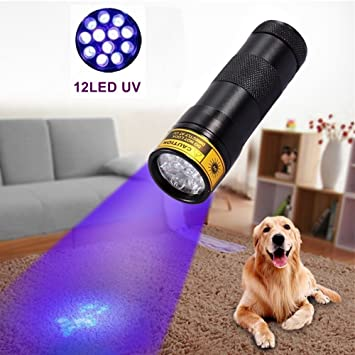 Amazon.com: alonefire Black Luz Cat orina Blacklight Luz ...