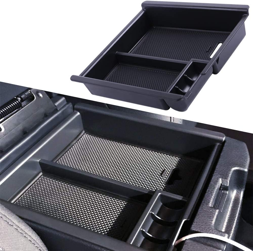 Full Console w//Bucket Seats ONLY Armrest Box Secondary Storage JDMCAR for 2009-2018 Dodge RAM 15//25//3500 Trucks Lower Center Console Organizer Insert ABS Black Materials Tray