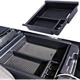 JDMCAR Compatible with Tacoma 2016-2019 2020 Center Console Organizer Insert ABS Black Materials Tray, Armrest Box…
