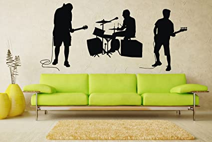 Rock Band Wall Decal Music Vinyl Sticker Wall Decor (50s) - - Amazon.com