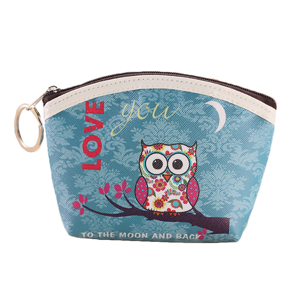 EUNOMIA Cute Faux Leather Owl Coin Purse Key Headphone Storage Bag Women Mini Wallet