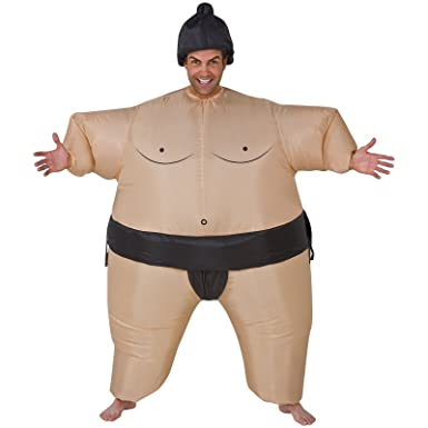 Inflatable Sumo Wrestler Costume , One Size , Chest Size 40,48