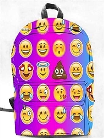 Amazon.com: Mochila Emoji Emoticon lona Full Size, Rosa y ...