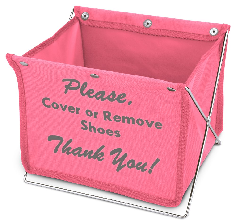 Foldable Shoe Cover Holder (Pink)