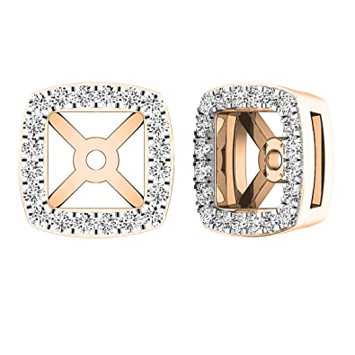 e18ef8fdc9742 0.25 Carat (ctw) 14K Gold Round White Diamond Removable Jackets For Stud  Earrings 1/4 CT