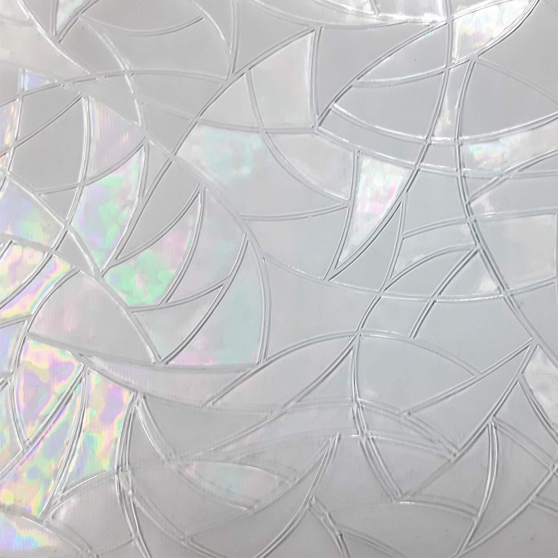 Peel And Stick Indoor Outdoor Decorative Home Bathroom Shower Living Room Business Office Meeting Room Glass Door Film Lutema .3, 35 x 78 35 x 78 Irregular Triangle Pattern Window Film Privacy No Residue