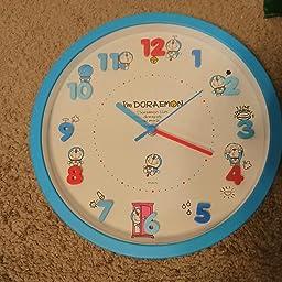 Amazon Co Jp ドラえもん 掛け時計 アナログ 連続秒針 立体文字盤 ブルー ホーム キッチン