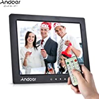 Andoer Digital Photo Frame 10inch 1080P Video Music Clock Calendar Player with Remote Control Gift