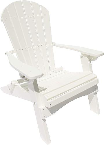 GAZEBO JOE'S Heavy Duty Reclining Lounge Poly Resin Folding Adirondack Chair