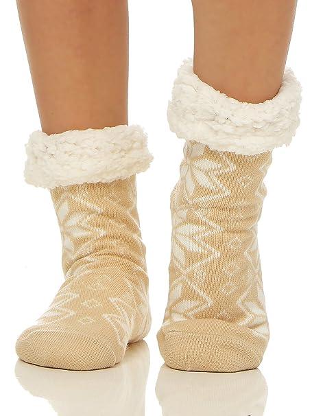 Matyfashion - Calcetines de estar por casa - para mujer Beige beige