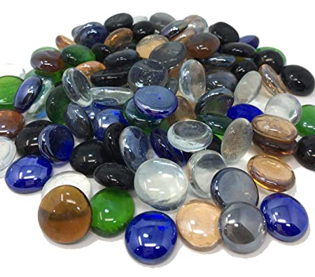 1kg Pack Of Round Decorative Glass Pebbles Stones Beads