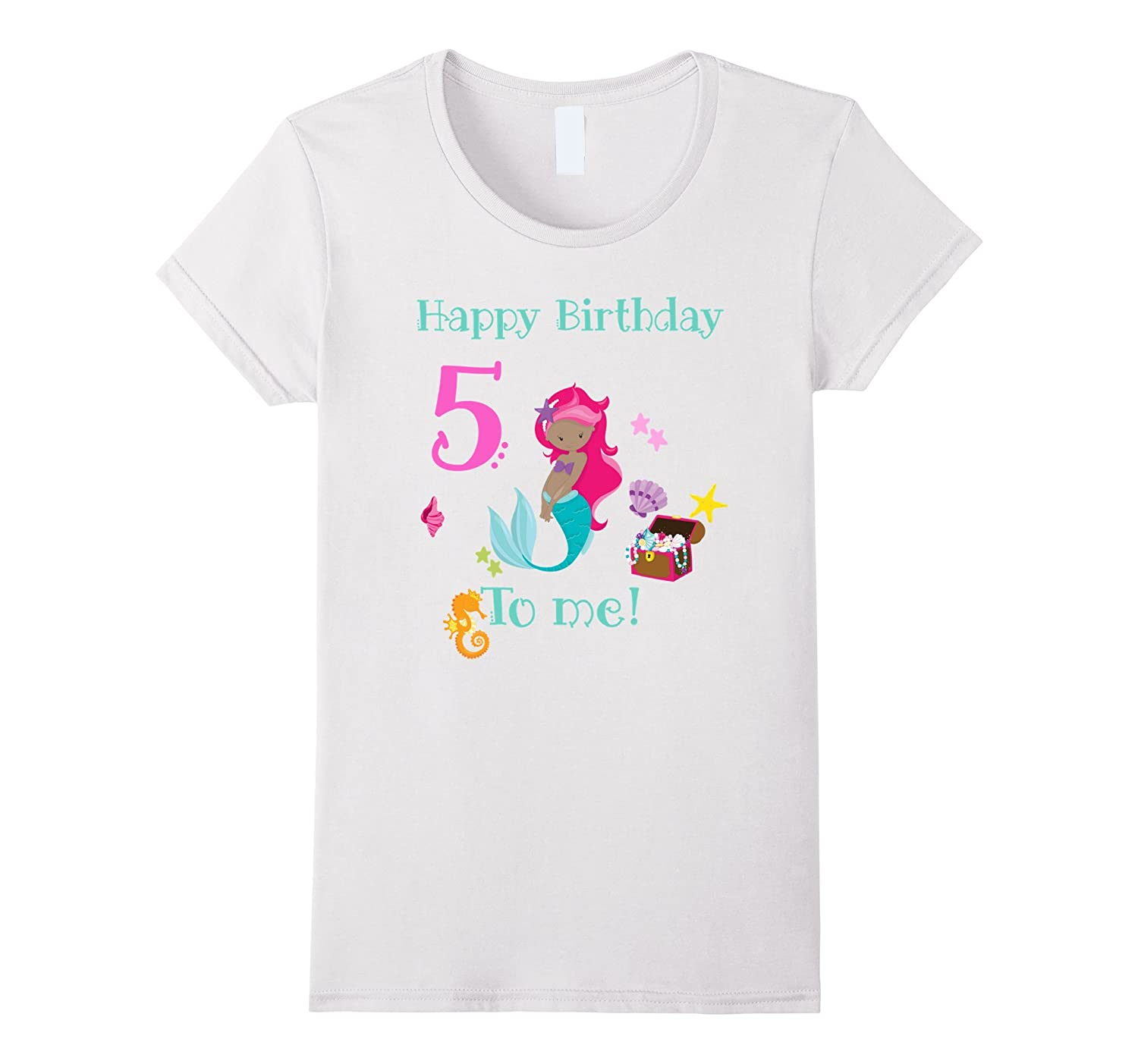 Mermaid 5th Birthday Shirt Birthday Girl 5 T Shirt-T-Shirt