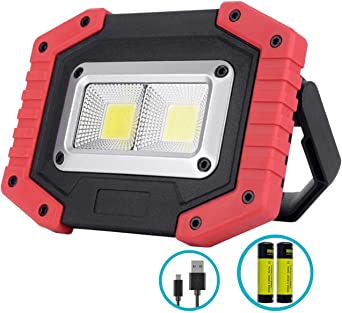 2xCOB LED Outdoor Solar Portable High Power Rechargeable Camping Lamp Work Light