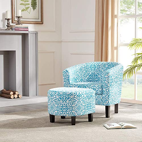 Cheap BELLEZE Modern Upholstered Barrel Accent Chair living room chair for sale