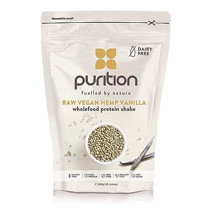 Batido de proteínas vegano de vainilla (500g). Ideal para perder peso & recuperación