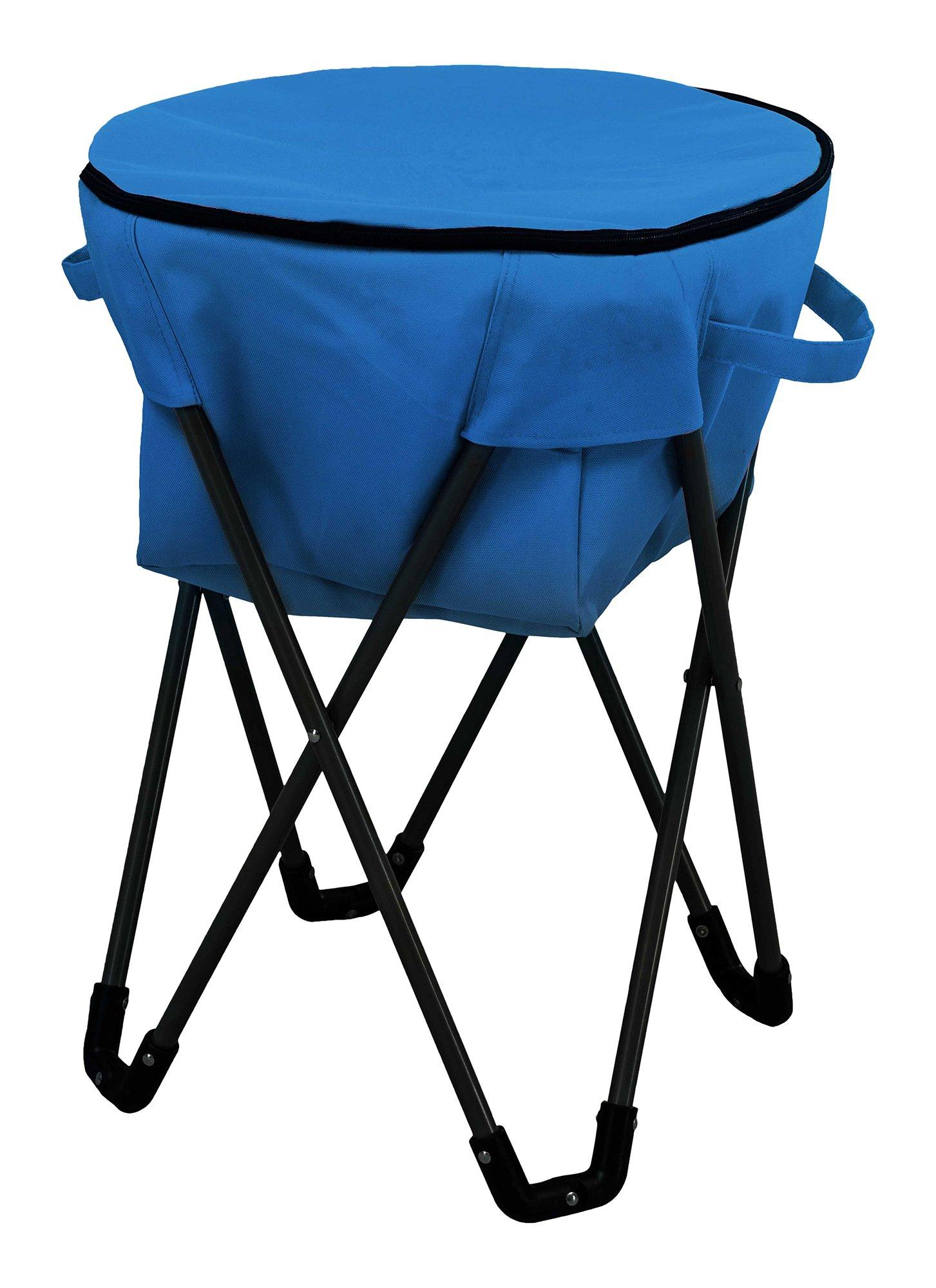 Sunjoy Folding Frame Outdoor Ice Cooler Bag, Blue