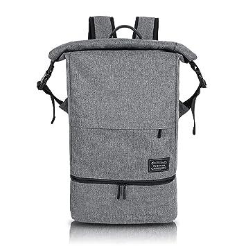 Mochila Deportiva para Hombre Mujer - Backpack Impermeable Separación de Seco y Húmedo, Daypack Escolar
