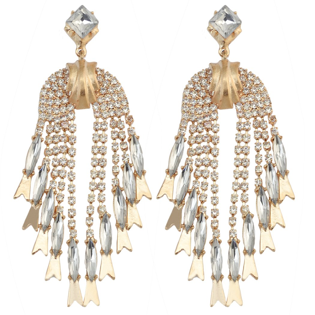 Humble Bohemian Big Statement Earrings For Women Luxury Crystal Antique Gold Long Earrings Indian Jewelry Wedding Accessories Furniture