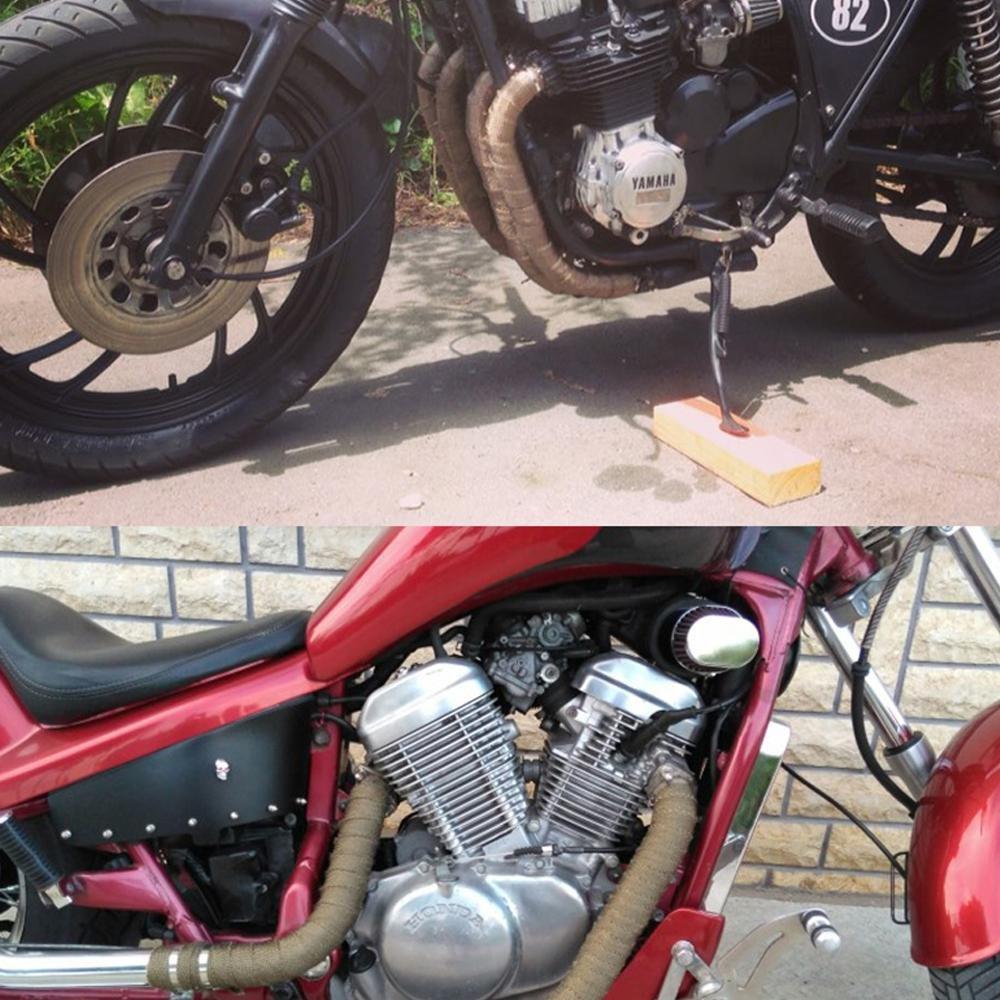 4 attaches en acier inoxydable 5 x 127 cm Ruban en titane /à mettre sur les pots d/échappement de moto Teepao