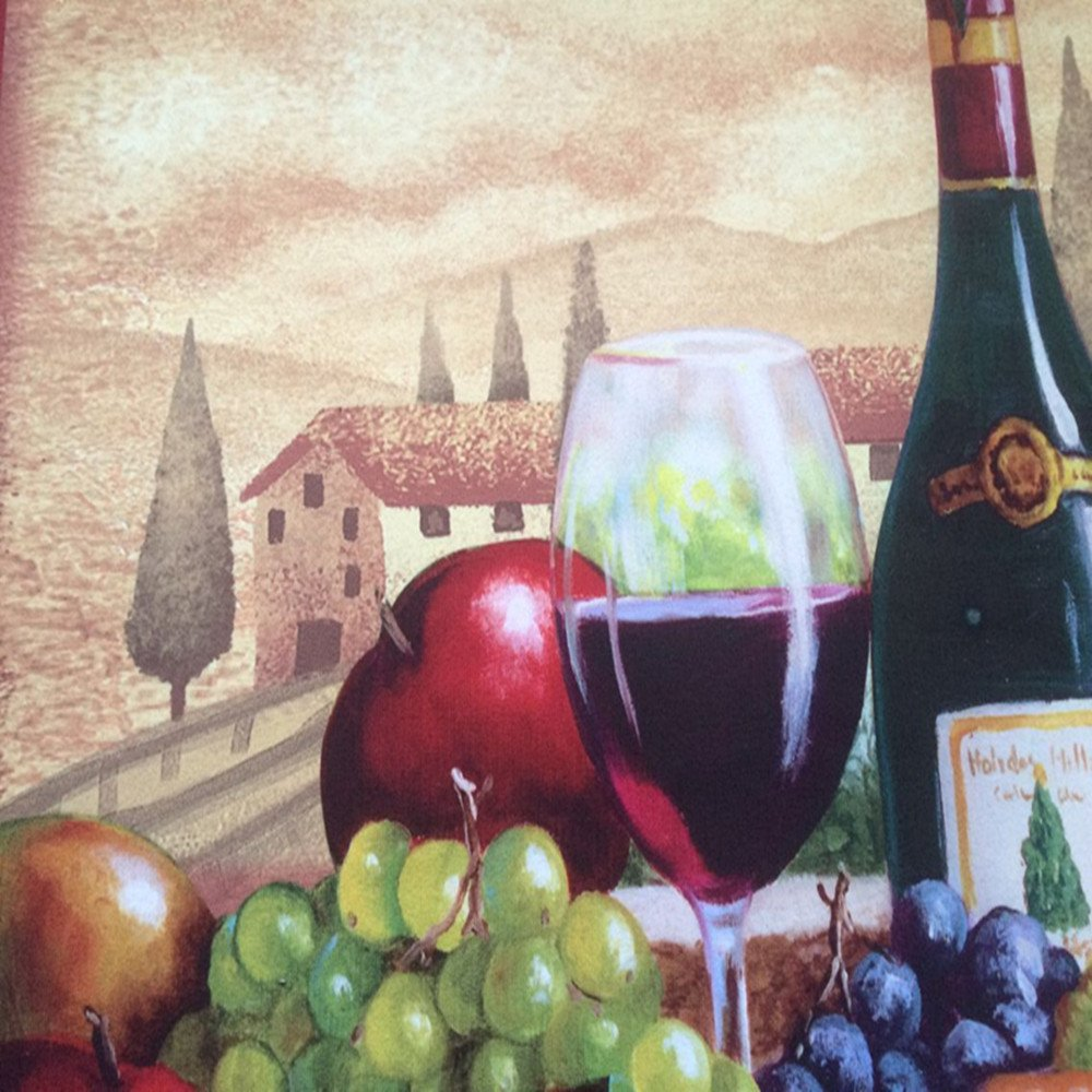 USTIDE Vintage Wine Pattern Area Rugs Waterproof Kitchen Floor Runner Non-Slip Laundry Rug by USTIDE (Image #5)