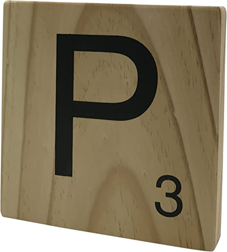 Original Way Scrabble Letra Decorativa P, Madera, Beige, 15x2x15 cm: Amazon.es: Hogar