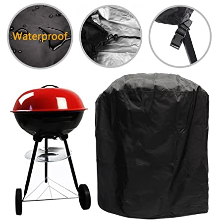 Waterproof Barbecue Cover 30 Inch Kettle BBQ Grill Cover Round Outdoor  Garden Patio Grill Protection