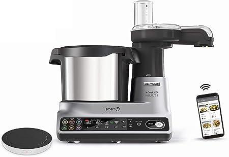 Kenwood kCook Multi Smart CCL450SI - Robot de cocina multifunción con WiFi controlable con una App desde el móvil, con +600 recetas gratuitas, balanza integrada, 1500 W, capacidad 4.5 L: Amazon.es: Hogar