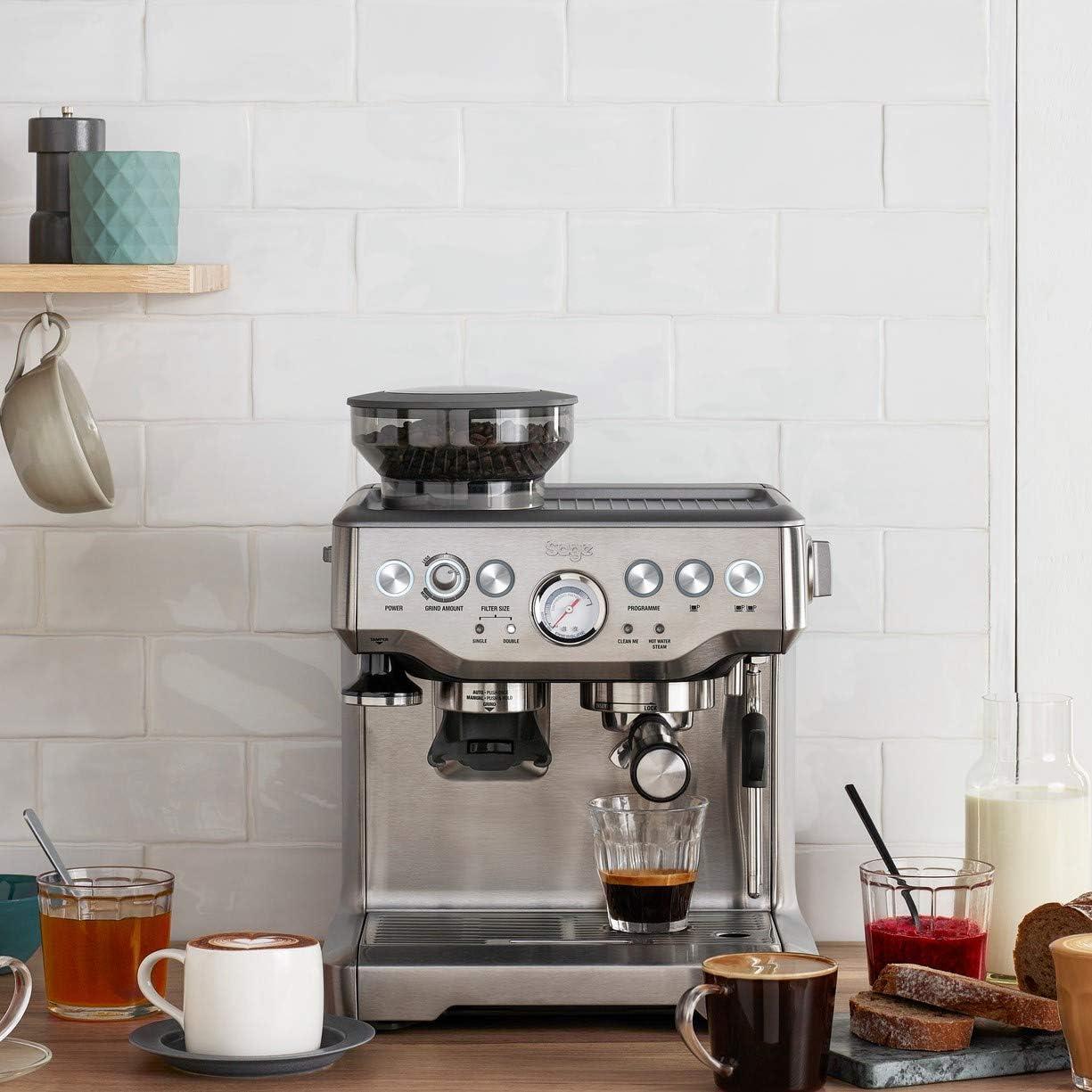 Sage Siebträgermaschine - Kaffeemaschine mit Mahlwerk
