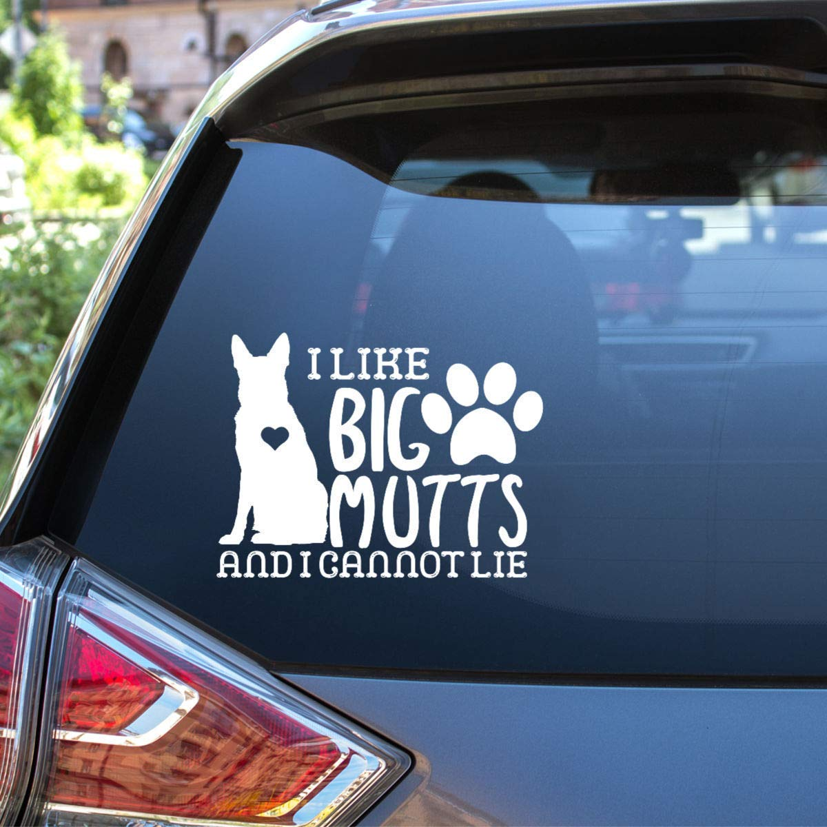 I Like Big Mutts Vinyl Decal Choose Size and Colors