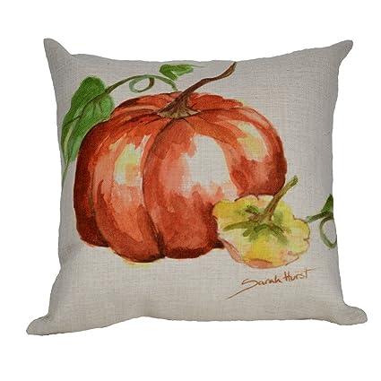 Amazon.com: Naranja calabaza manta decorativa Funda de ...