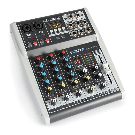 1 opinioni per Vonyx VMM-K402 • Music Mixer 4 Canali • Bluetooth • USB-Audio-Interface • LED VU