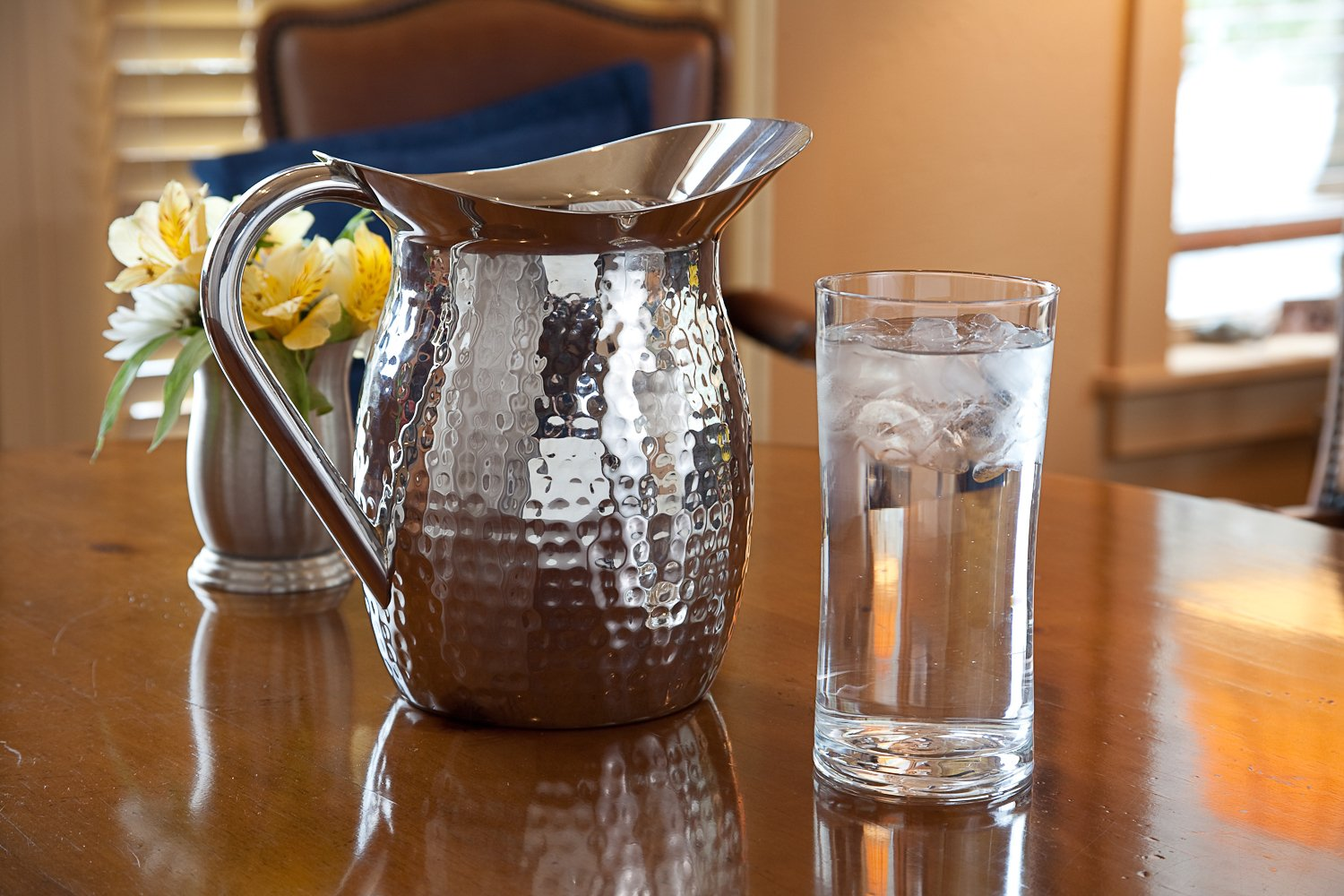 Artisan 2-Quart Double-Wall, Stainless Steel Insulated Serving Pitcher with Hammered Texture by Artisan (Image #2)
