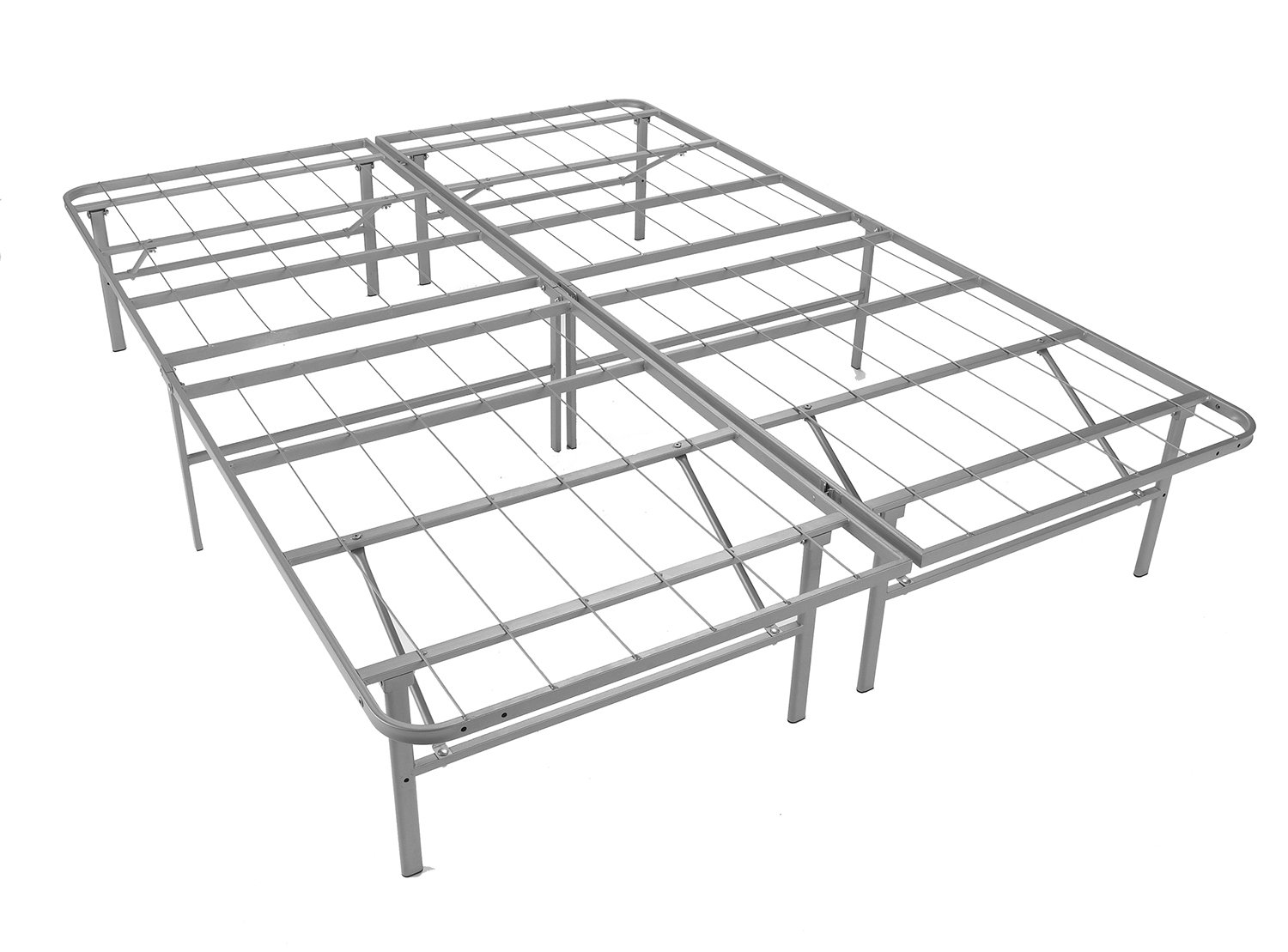 Mantua PB46XL Premium Platform Base in Silver, Fits Full XL Mattress, Replaces Box Spring and Bed Frame, Room for Storage Underneath, No Tools Required
