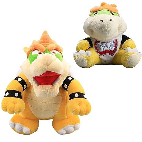 Uiuoutoy Super Mario Bros 10 King Bowser 7 Bowser Jr Koopa Plush Set 2pcs