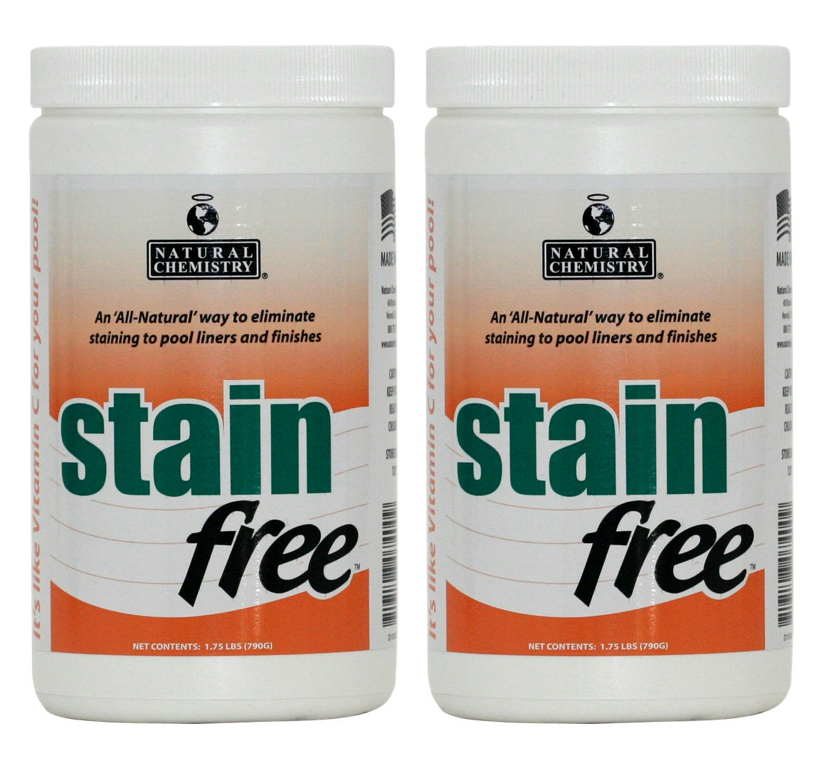 Natural Chemistry 2 07400 Swimming Pool Spa STAINfree Remover - 1.75 lbs Each by Natural Chemistry