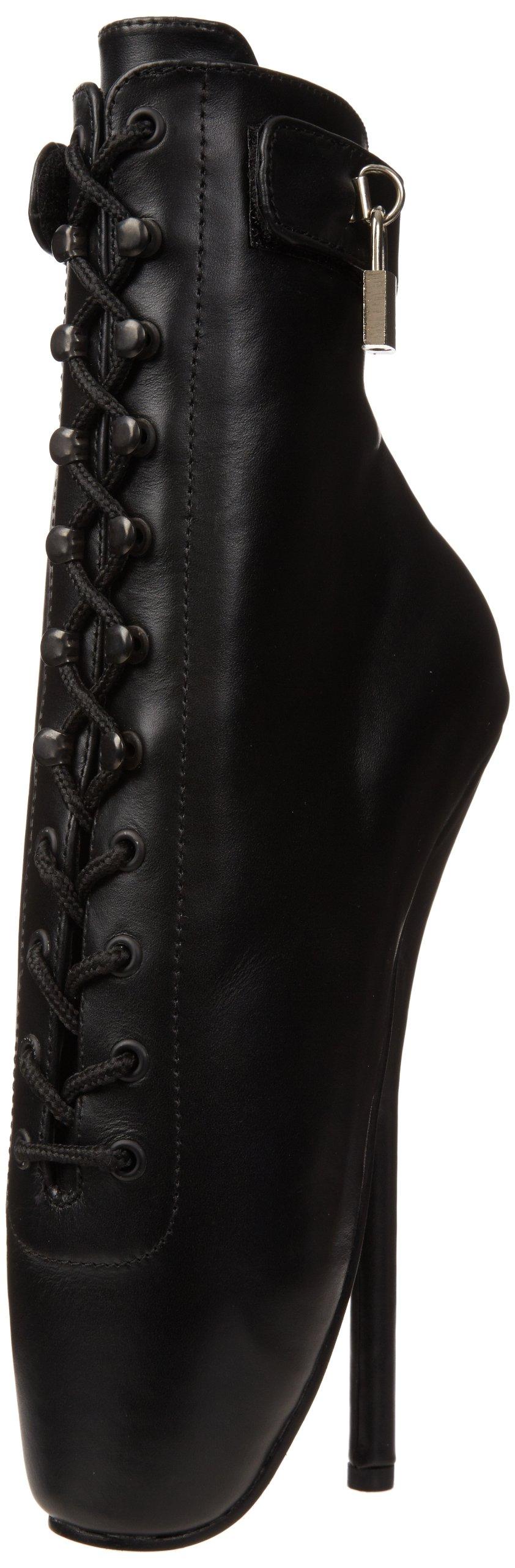 pleaser Women's BALLET-1025/B/LE, Black Leather, 6 M US by pleaser