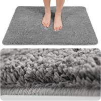 Super Soft Non-Slip Bath Rug - Absorbent Plush Bathroom Mat Quick Dry Washable Microfiber Doormat with Waterproof Backing(19 X 30)