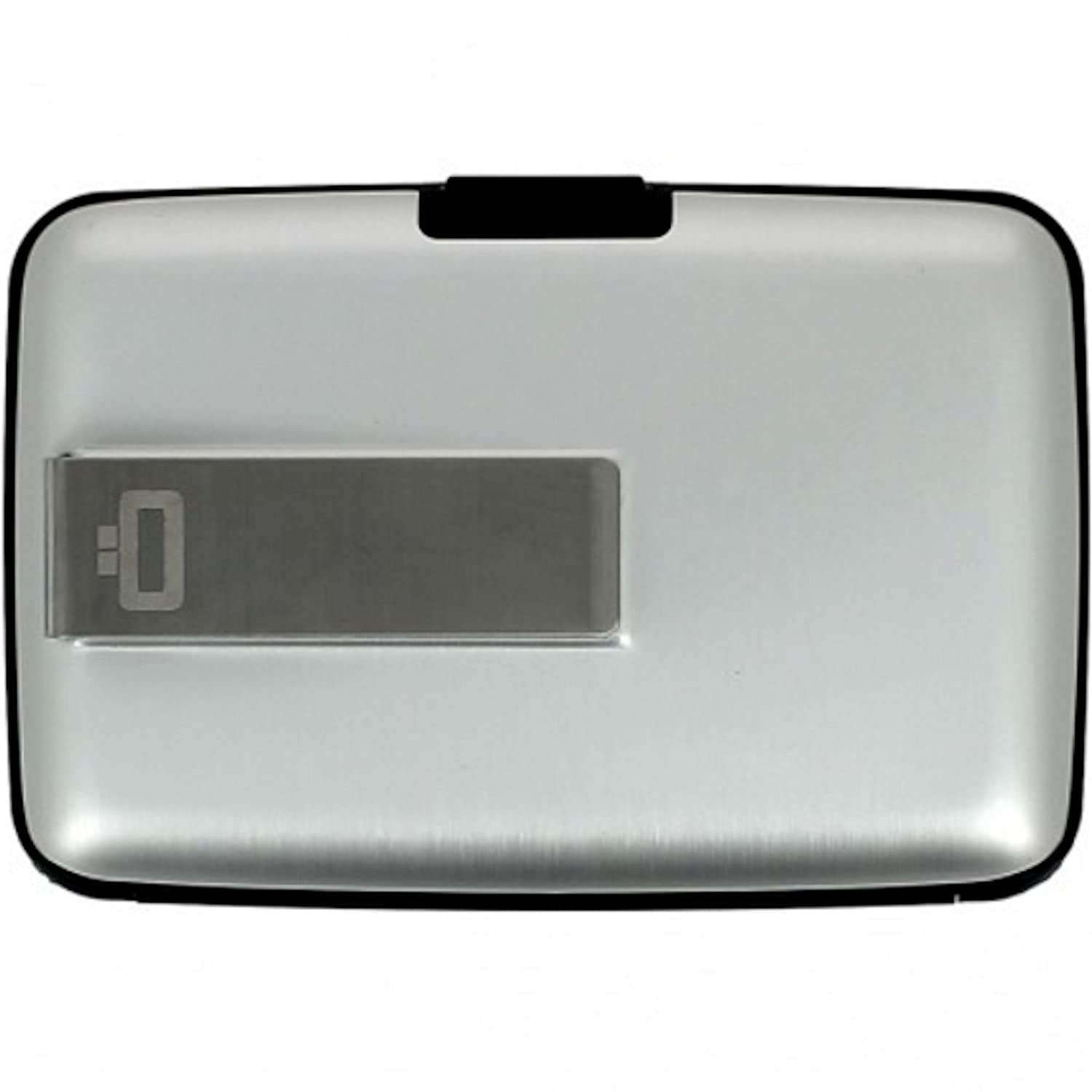 Ogon- Silver Aluminium credit card holder with money clip STC