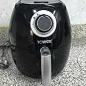 tower t17023 air fryer with 30 minute timer 1000 w 2 2. Black Bedroom Furniture Sets. Home Design Ideas